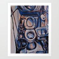 oasis Art Prints featuring Oasis by Rachel Hoffman