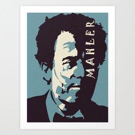 Mahler (Blue) Art Print
