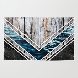 Striped Materials of Nature II Rug