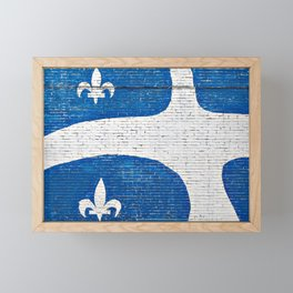 Vive le Quebec! Framed Mini Art Print