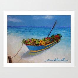 """Fishing Colorful Dreams-1"" Art Print"