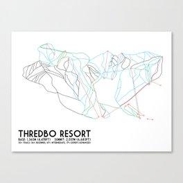 Thredbo, NSW, Australia - Minimalist Trail Map Canvas Print