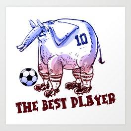the best player elephant Art Print