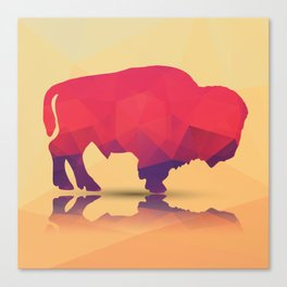 Geometric buffalo Canvas Print