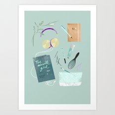 GOING TO THE POOL Art Print