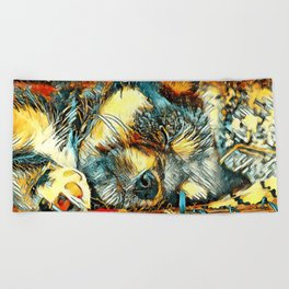 AnimalArt_Dog_20170906_by_JAMColorsSpecial Beach Towel