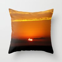 oklahoma Throw Pillows featuring Oklahoma Sunrise by Christy Leigh