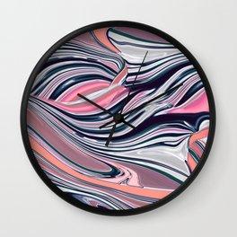 Marble paint landscape Wall Clock