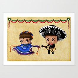 Mexican Chibis Art Print