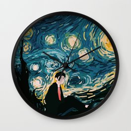 Taehyung Starry Night Wall Clock