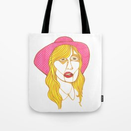 Took her favorite hat and left Tote Bag