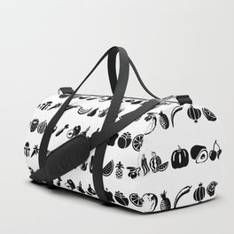 black and white vegetables Duffle Bag