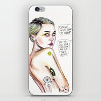 miley iPhone & iPod Skins featuring Satanist miley  by Lucas David