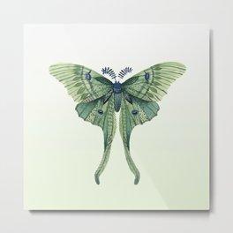 Green Luna Moth 3 Metal Print