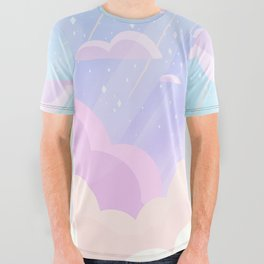 Pastel Heaven All Over Graphic Tee