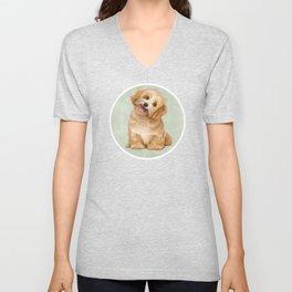 Smiling Dog (Havanese) Unisex V-Neck