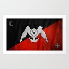 Bandera Oficial de Makro Art Print