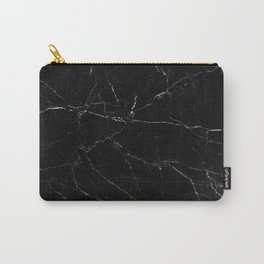 Black Marble Print Carry-All Pouch