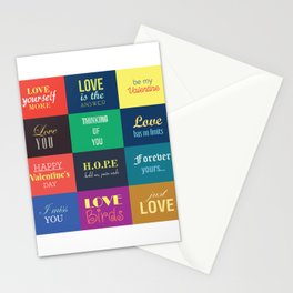 love messages Stationery Cards