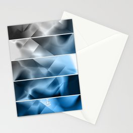 Midnight Satin (Five Panels Series) Stationery Cards