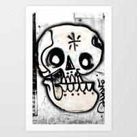calavera Art Prints featuring Calavera by Happy Tao