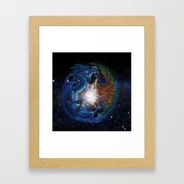 Dragon's Soul and the Tree of Life Framed Art Print