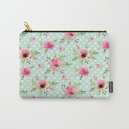 Floral vintage pattern Carry-All Pouch