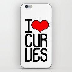 I heart curves iPhone & iPod Skin