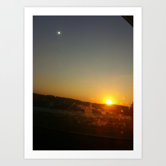 Sunset Practice Art Print