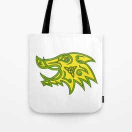 Boar Head Celtic Knot Tote Bag
