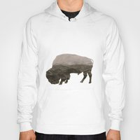 bison Hoodies featuring Bison by Outdoor Bro