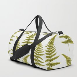 Green Watercolor Fern Pattern Duffle Bag