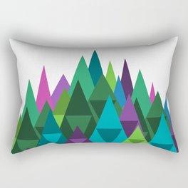Jewel Toned Mountain Range Rectangular Pillow
