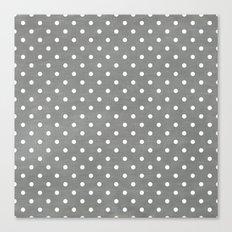 dark gray swiss dots Canvas Print