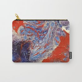 red and blue flow Carry-All Pouch