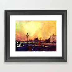 sunset in Venice Framed Art Print
