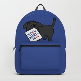 Cute Dog with Biden Harris Sign Backpack