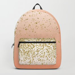 Classy faux gold confetti blush gradient image Backpack