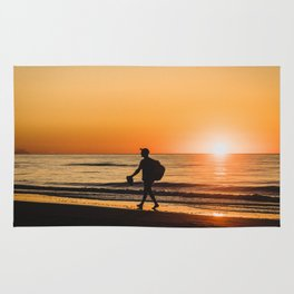 Sunset over Adriatic Sea Rug