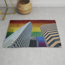 Houston LGBTQ Pride Skyline Rug