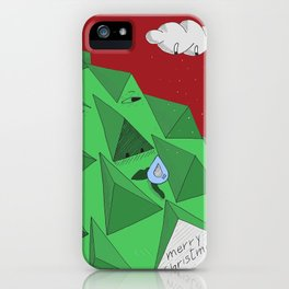christmas pine iPhone Case