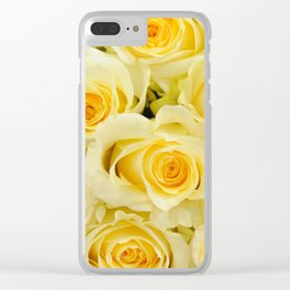 soft yellow roses close up Clear iPhone Case