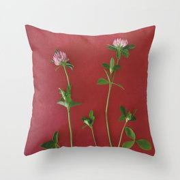 Red clover | Floral photography Throw Pillow