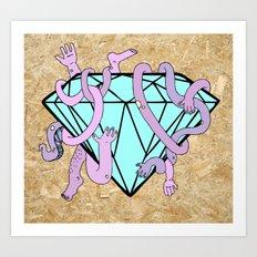DIAMOND HANDS Art Print