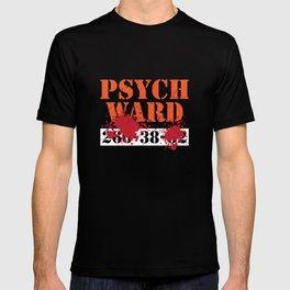 Psych Ward Patient T-Shirt Blood Splatter Scary Asylum Tee T-shirt