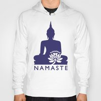 namaste Hoodies featuring Namaste by AleDan