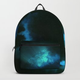 Blue Smoke Ring Pattern Backpack