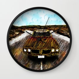 Star Car Wall Clock