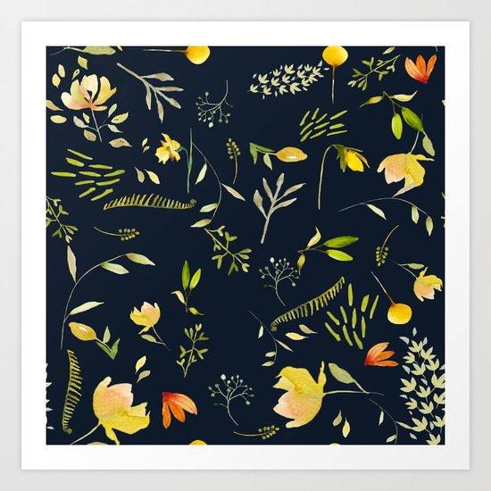 Yellow garden Art Print