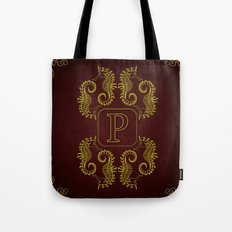 Monogram P seahorse Tote Bag
